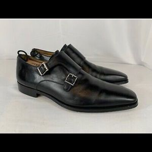 Magnanni Miro Black Double Monk Strap Loafers 11.5